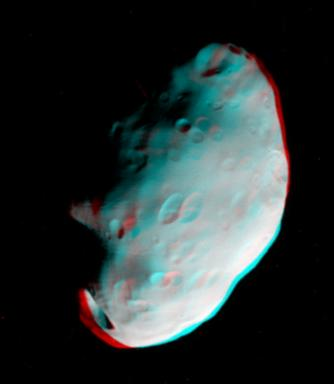 Foto 3D de satélite de Saturno (Foto: Nasa/Divulgação)