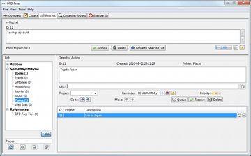 """O GTD-Free lhe dá um """"framework"""" para implementar a metodologia Getting Things Done sem usar pilhas de papel."""