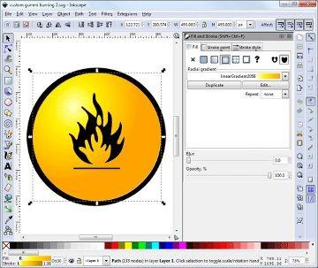 Ferramentas sofisticadas e controles precisos tornam o Inkscape poderoso o suficiente para a maior parte do trabalho com arte vetorial.